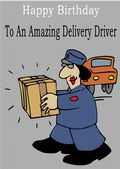 Delivery Driver - Greeting Card